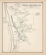 Lebanon West, New Hampshire State Atlas 1892 Uncolored